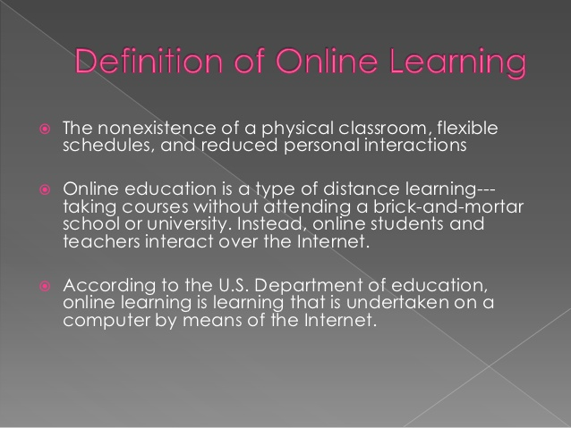 The Benefits and Downside of Online Learning